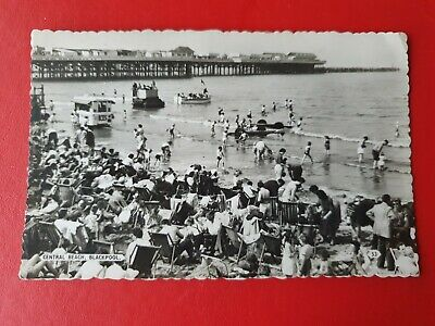 Central Beach, Blackpool 1961. Vintage Real Photo Postcard • 1.99£