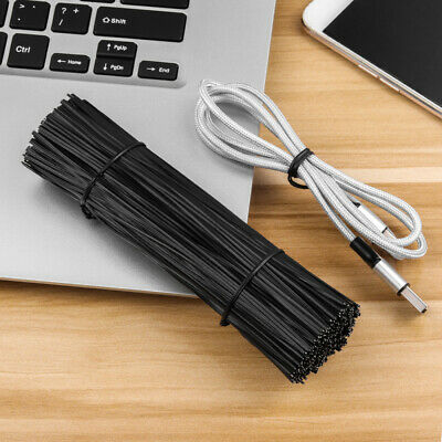 £6.49 • Buy OUNONA 500X 15cm Plastic Coated Iron Wire Twist Ties Cable Wrap Organizer Ties