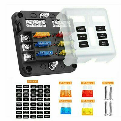 AU20.79 • Buy 23PC 6 Way Blade Fuse Box Block Holder LED Indicator Light 12V/32V Car Marine