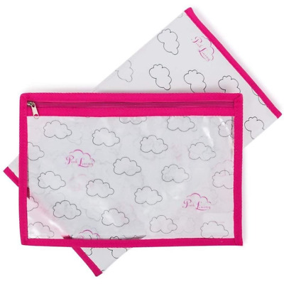 Pink Lining Yummy Mummy Padded Wipe Clean Changing Mat And Zip Mess Bag Cloud  • 10£