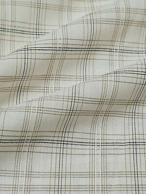 £3.49 • Buy Checked Cream Colour Polycotton Shirt Fabric - Sold By The Metre