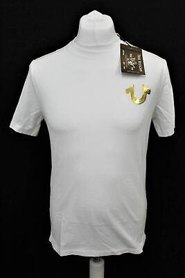 TRUE RELIGION Men's Optic White Metallic Gold Buddha T-shirt Size XS RRP49 BNWT • 14.65£