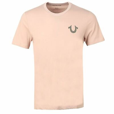 TRUE RELIGION Men's Chalk Pink Crew Neck Short Sleeve T-Shirt Size M RRP59 BNWT • 13.35£