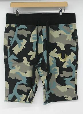 TRUE RELIGION Men's Green Black Derringer Camo Cotton Shorts S RRP œ109 BNWT • 54.50£