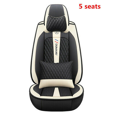 $ CDN174.83 • Buy Car Seat Covers PU Leather Front+Rear Cushion Seat Covers 5-Seats Deluxe Edition