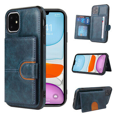 AU12.88 • Buy For IPhone 12 11 Pro Max XR X 8 7 SE2 Flip Leather Card Holder Wallet Case Cover