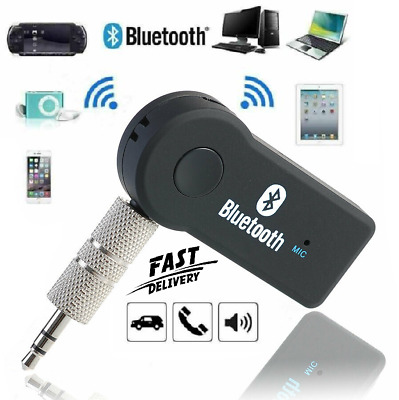 3.5mm Wireless Bluetooth Car Receiver Adapter AUX Audio Stereo Music With Mic • 2.89£