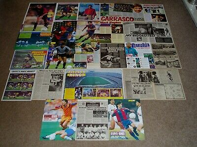 FC BARCELONA [ESPANA]  -  Shoot Magazine Player Posters & Articles Set  • 6£
