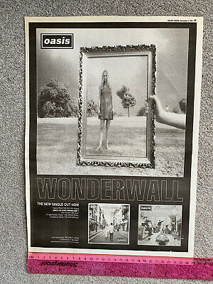 OASIS Wonderwall RARE 1995 MELODY MAKER FULL PAGE A3 PROMO ADVERT • 4.95£