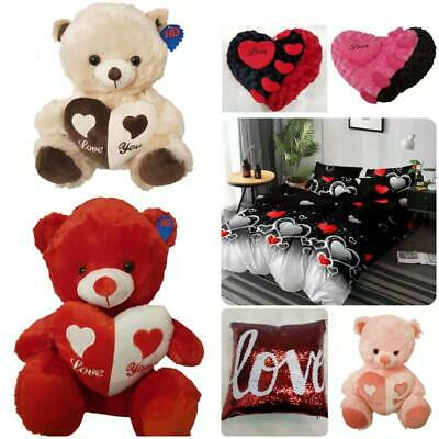 Valentines Day Anniversary Decorations Novelty Gifts LOVE Teddy Bears & Cushions • 9.95£