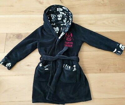 Star Wars Black Robe / Dressing Gown For Boys 7-8 Years Old  • 6.99£