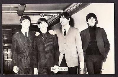 CONTEMPORARY BEATLES REAL PHOTO POSTCARD SIZE JOHN PAUL GEORGE RINGO C1964 • 9.99£