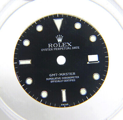 $ CDN503.54 • Buy Genuine Factory Rolex GMT-Master 16700 Glossy Black & Lume Watch Dial SWISS Only