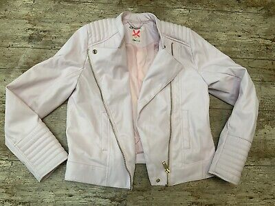 H&M JACKET GIRLS Faux Leather Baby Light ICE PINK Age 9 To 10 Light Coat Trendy • 13.97£