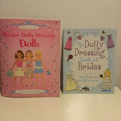 Sticker Dolly Dressing Dolly Dres Up Cut Out Activity Books 2 Dolly Dress Up • 3.99£