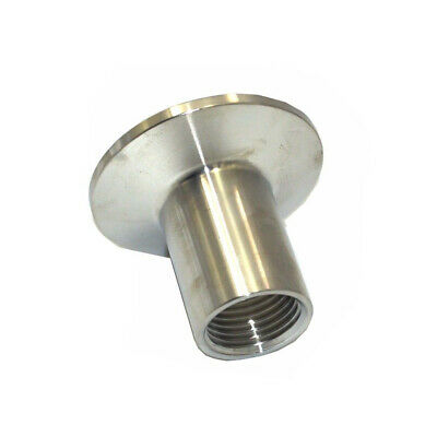 AU12.16 • Buy 1/2inch NPT Stainless Steel Female Thread Ferrule Pipe Fitting Tri Clamp Adapter