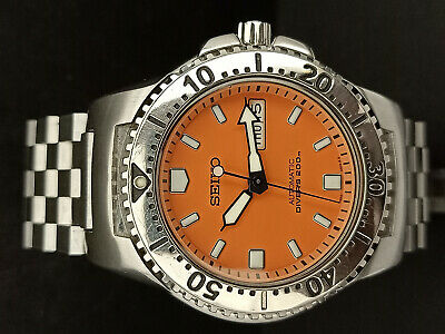 $ CDN13.40 • Buy Pre Owned Seiko Diver Skxa61 Orange Knight Automatic Watch Serial Number 515847