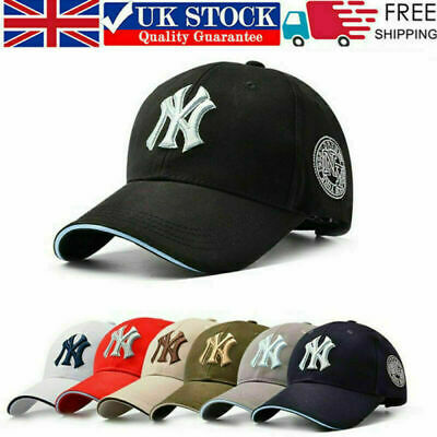 NEW Unisex Mens Womens Baseball Cap Adjustable NY Snapback Sport Hip-Hop Sun Hat • 6.58£