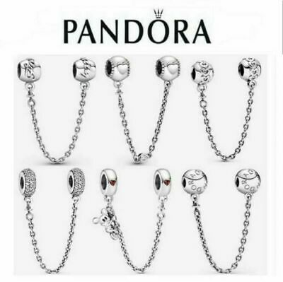 AU24.99 • Buy NEW Genuine Silver Pandora Logo Safety Chain Charm ALE S925 & With Gift Box