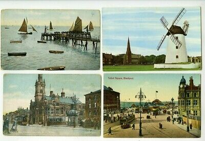 Lancashire Blackpool Town Hall Pier Talbot Square Windmill Lytham St Annes Fylde • 0.99£