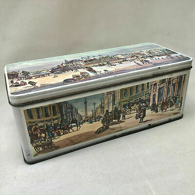 Vintage Jacobs Biscuit Tin Box With Traditional London Scences Food Advertising • 12£