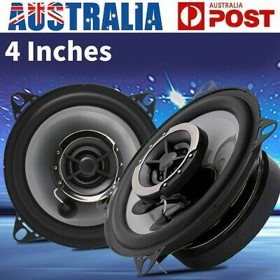 AU29.99 • Buy 2x 4  Inch Car Speakers LED Light 150W Stereo 2-WAY Audio Component Vehicle Kit