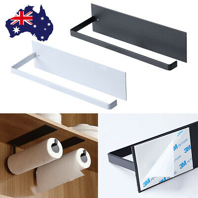 AU10.49 • Buy Kitchen Wall-Mount Paper Towel Holder Aluminum Rack Roll Hanging Stand Black AU