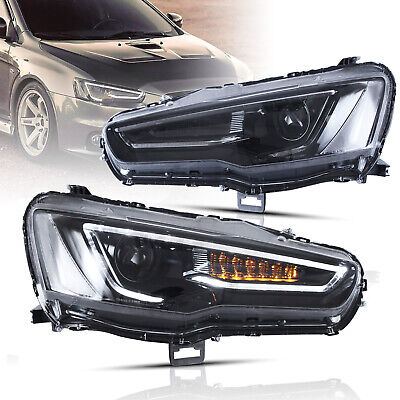 AU569.99 • Buy Customized Upgraded Led All Black Headlights With Sequential For 08-17 Lancer
