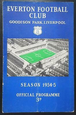 EVERTON V SOUTHEND UNITED - 1954/55 - FA Cup 3rd Round • 7.50£