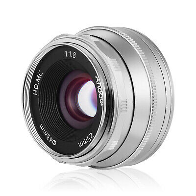 £50.84 • Buy Andoer 25mm F1.8 Manual Focus Lens Large Aperture Compatible With Olympus R2E5