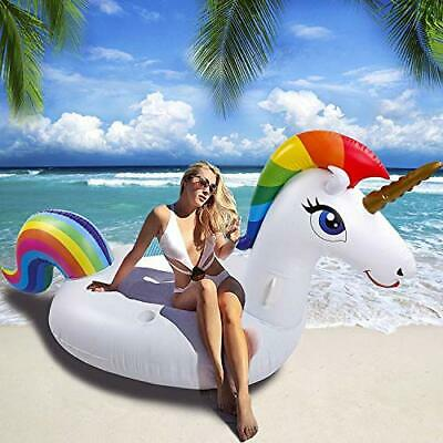 Unicorn Pool Float Giant Inflatable Toy Outdoor Swimming Floats Summer • 26.99£