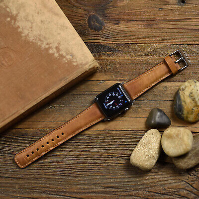 $ CDN53.32 • Buy Genuine Leather Apple Watch Band 42mm, 38mm, 40mm, 44mm Series 1-2-3-4-5-6 SE