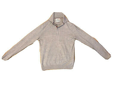 Men Grey Jumper With Buttons. Casual Winter Jumper. Male. Men. Size Small. • 4.32£