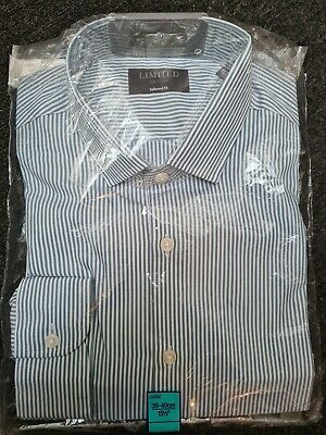 Limited Edition Tailored Fit Blue Stripe Shirt, 15.5 , Brand New • 0.99£