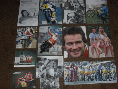 Barry Sheene - Grand Prix Motorcycle Racing World Champion - Various Clippings • 1.99£