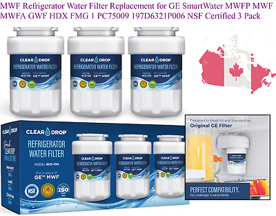 $ CDN39.20 • Buy MWF Refrigerator Water Filter Replacement For GE SmartWater MWFP MWF MWFA GWF...