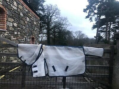 Used Small Masta Fly Sheet Horse Rug With Detachable Hood • 10£