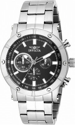 Invicta Specialty 18161 Men's Round Black Chronograph Stainless Steel Watch • 10.24£