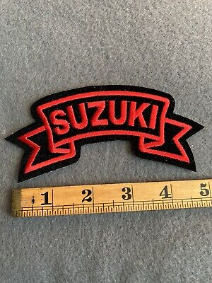 $10 • Buy Black & Red Suzuki Banner Logo Patch Motorcycle Racing A7