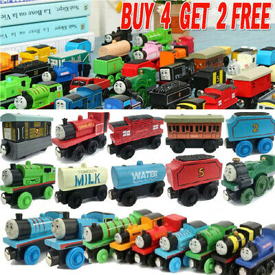 The Tank Engine Tender Wooden Magnetic Railway Train Truck Cars Toys Kids Gift* • 2.79£