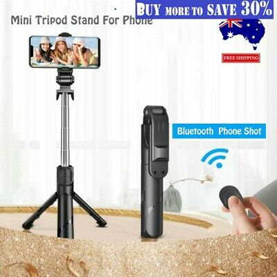 AU14.09 • Buy Adjustable Camera Tripod Mount Stand Bluetooth Selfie For IPhone And All Mobiles
