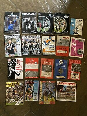 Job Lot 19 X NEWCASTLE UNITED Home & Away Programmes 1957-2012 • 9.99£