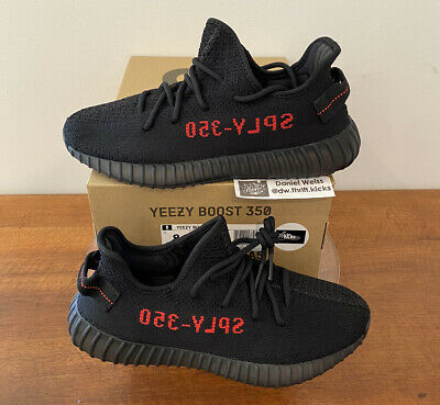 $ CDN496.69 • Buy DS Adidas Yeezy Boost 350 V2 Bred Black Red - Mens Sz 8