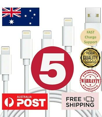 AU14.95 • Buy 5x USB Lightning Charging Cable Data For Genuine Apple Charger IPhone IPad 11 12