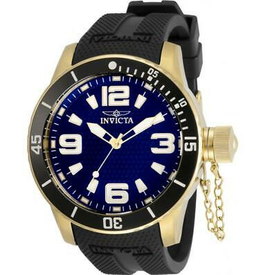 Invicta Specialty 30699 Men's Round Blue Analog Black Silicone Watch • 7.68£