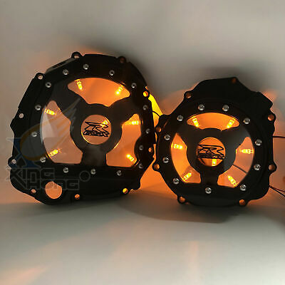 $219 • Buy Yellow /Orange LED Engine Clutch Cover LEFT&RIGHT For 2005-2008 Suzuki GSXR1000