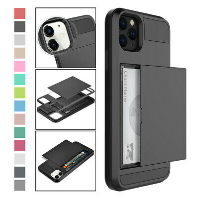 AU10.92 • Buy For IPhone 12 Pro Max Mini 11 X XS 7 8 Hybrid Rugged Case With Card Holder Cover