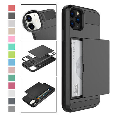 AU7.76 • Buy For IPhone 12 Pro Max Mini 11 X XS 7 8 Hybrid Rugged Case With Card Holder Cover