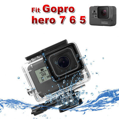 AU14.26 • Buy Waterproof Diving Protective Housing Clear Case For GoPro Hero 7 6  5 Go Pro