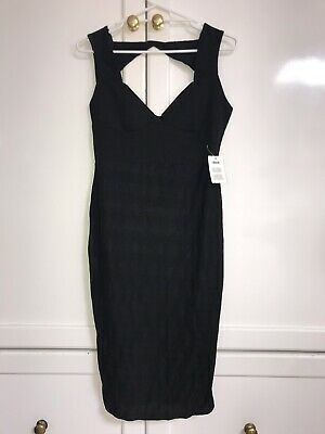 AU19 • Buy New With Tags! ASOS Sexy Body-con Backless Black Dress 12 14 Party Clubbing LBD